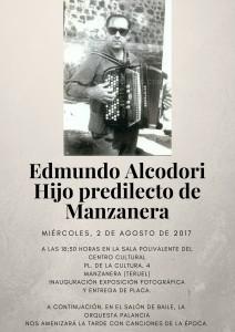 Edmundo AlcodoriHijo predilecto deManzanera