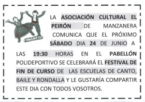 cartel festival apaisado